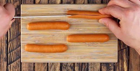 Праздничные закуски в последнюю минуту: запасаемся сосисками. -
