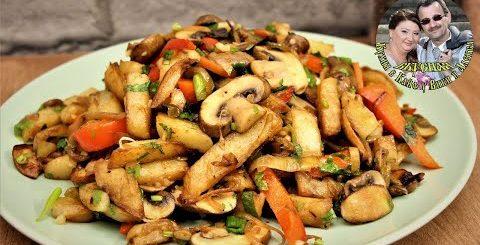 Берем картошку, грибы и овощи. Получаем быстрое, вкусное, постное блюдо. -