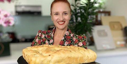Итальянский Хлеб ФОКАЧЧА с сыром и луком Вкуснейшая итальянская лепешка Люда Изи Кук выпечка хлеба -
