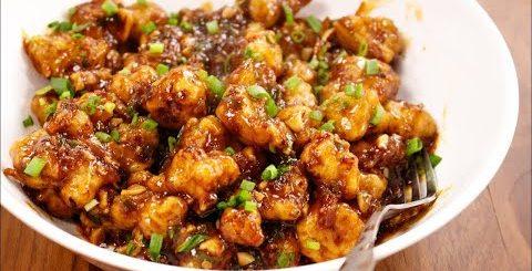 Индийское блюдо ГОБИ МАНЧУРИАН, цветная капуста в кляре и с соусом. Очень вкусно! -