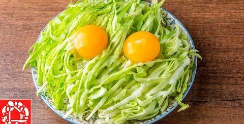 Капуста и два Яйца. Просто, Дешево и Очень Вкусно! Блин из капусты