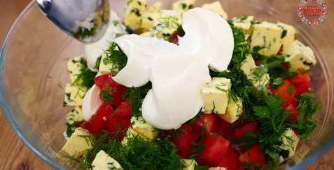"""Салат """"ПЯТИМИНУТКА"""" а рецепт просят ВСЕ кто пробует! Нежный салат с курицей - Вкусно Просто и Доступно"""