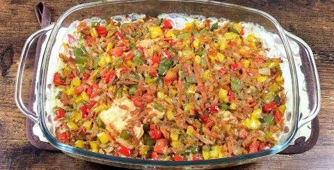 Очень вкусная запеченная РЫБА с овощами.? Вы тоже влюбитесь в это блюдо! -