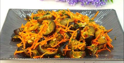 блюда из баклажан простые рецепты Салат с баклажанами