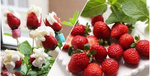 Как приготовить ВКУСНЫЙ десерт НА СКОРУЮ РУКУ из клубники и сливок/ Mavzuna`s kitchen