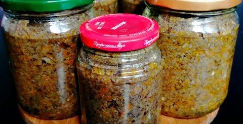 Вкусная Грибная ИКРА на зиму/ Икра из ОПЯТ на зиму/ Как приготовить грибную икру из опят