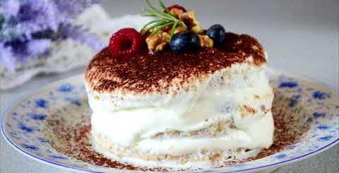 ПП Тирамису - низкокалорийный десерт из творога с указанием калорийности и БЖУ